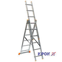 Лестница-стремянка 3х6 КРОК, алюминиевая