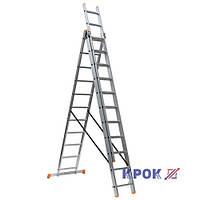 Лестница-стремянка 3х11 КРОК, алюминиевая, фото 1