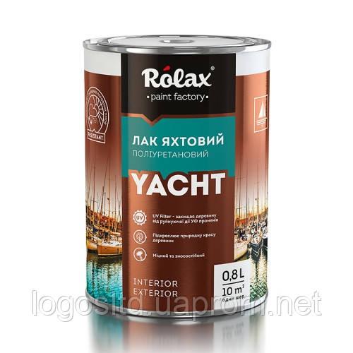 Лак яхтенный полиуретановый 0,8 л глянцевый Ролакс