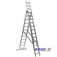 Лестница-стремянка 3х12 КРОК, алюминиевая, фото 1
