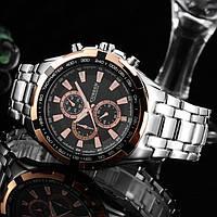 Часы мужские Curren Granit silver-gold-black