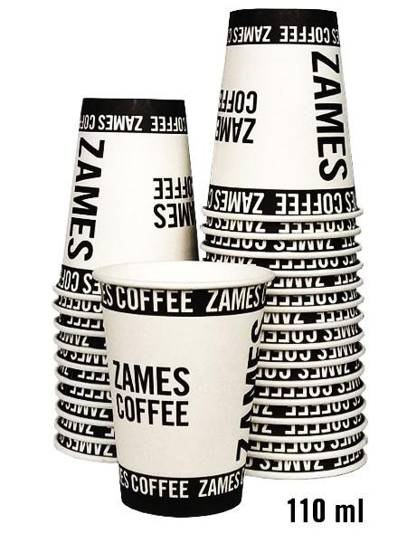 Одноразовый бумажный стакан ZAMES COFFEE 110 мл