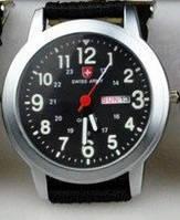 Часы SWISS ARMY Military Style silver - black