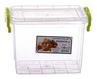 Пищевой контейнер с крышкой для микроволновки и холодильника 1.1 л