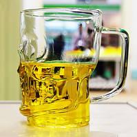 Бокал пивной череп 600мл в форме черепа для пива