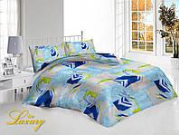 Двуспальный комплект постельного белья «Голубая абстракция»