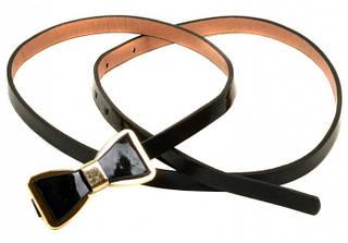 Оригинальный ремень Женский искусственная кожа H2111-2 black, черный, ДхШ: 100х1 см