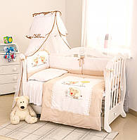 Детский постельный комплект Twins Evolution A-030 Овечки 6 предметов, бежевый