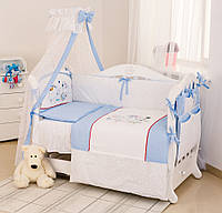 Детский постельный комплект Twins Evolution A-032 Собачки в космосе 8 предметов, голубой