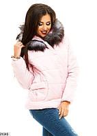 Женская зимняя куртка с натуральным мехом КТ-637