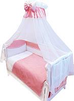 Детский постельный комплект Twins Magic M-004 sleep 8 предметов, розовый