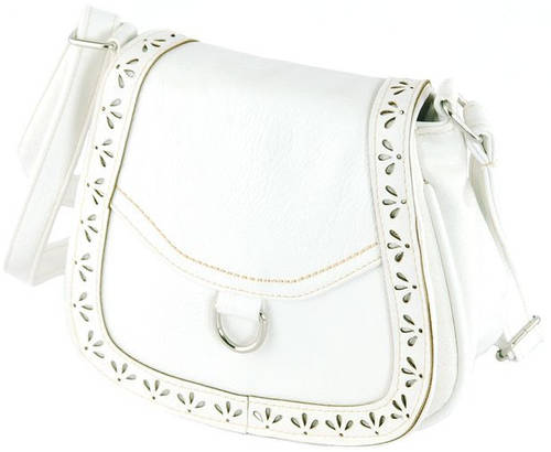 Компактная сумка через плече из искусственной кожи Traum 7215-41, белый