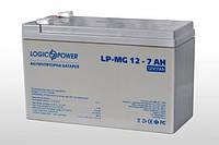 Мультигелевый (AGM) аккумулятор LogicPower 12В 7Ач