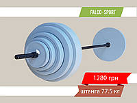 Штанга разборная 77 кг, гриф 25 мм