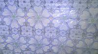 Клеенка Лейс Синие цветы 1,32 м
