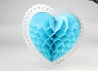 Подвесные соты в форме сердца, 31х32 см. Голубой