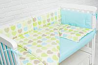 Комплект в кроватку для новорожденных с бортиками (!)