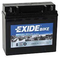 Аккумулятор для мотоцикла гелевый EXIDE SLA12-18 = AGM12-18 18Ah 181x77x167