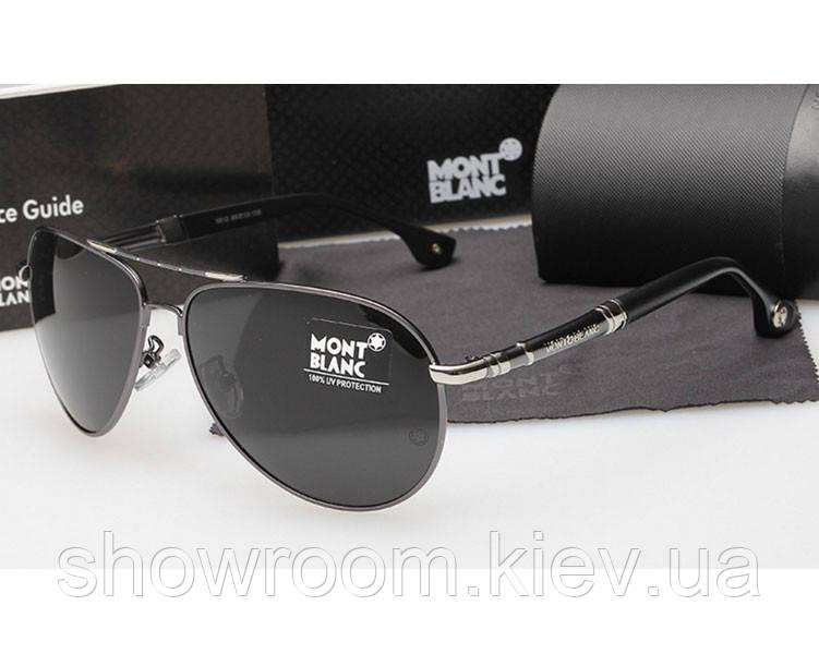 Солнцезащитные очки в стиле Montblanc (5512) silver