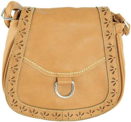 Красивая сумка через плече из искусственной кожи Traum 7215-42, коричневый