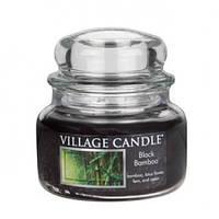 """Ароматическая свеча в стекле Village Candle """"Черный бамбук"""". 315 гр/ 55 часов"""