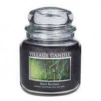 """Ароматическая свеча в стекле Village Candle """"Черный бамбук"""". 455 гр/ 105 часов"""