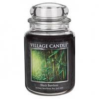 """Ароматическая свеча в стекле Village Candle """"Черный бамбук"""". 740 гр/ 170 часов"""