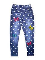 Леггинсы под джинс утепленные для девочек, Taurus, размеры 140,158. арт. 869