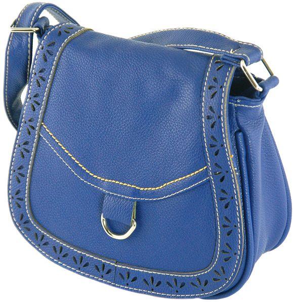 Сумка через плече з екошкіри Traum 7215-43, синій