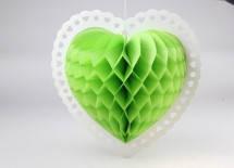 Подвесной декор в форме сердца, 37х36 см. Салатовый