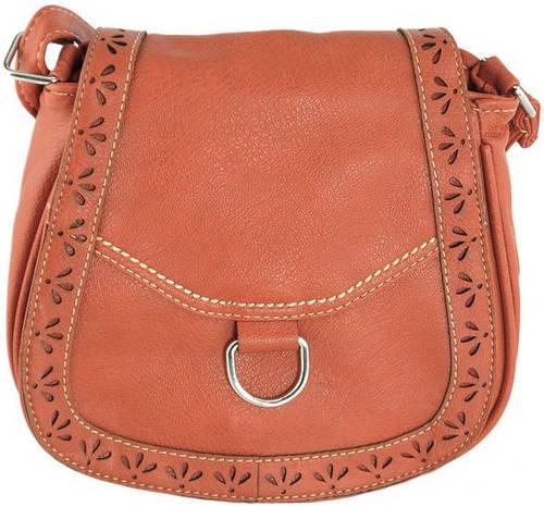 Прекрасная сумка через плече из искусственной кожи Traum 7215-44, кирпичный