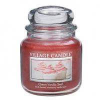 """Ароматическая свеча в стекле Village Candle """"Вишнево-ванильное пирожное"""". 455 гр/ 105 часов"""