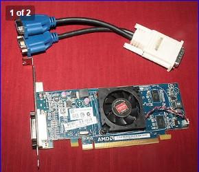 Видеокарта PCI-E ATI Radeon HD6350 512Mb + VGA адаптер