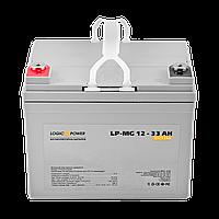 Мультигелевый (AGM) аккумулятор LogicPower 12В 33Ач