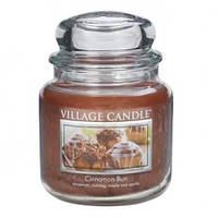 """Ароматическая свеча в стекле Village Candle """"Булочка с корицей"""". 455 гр/ 105 часов"""