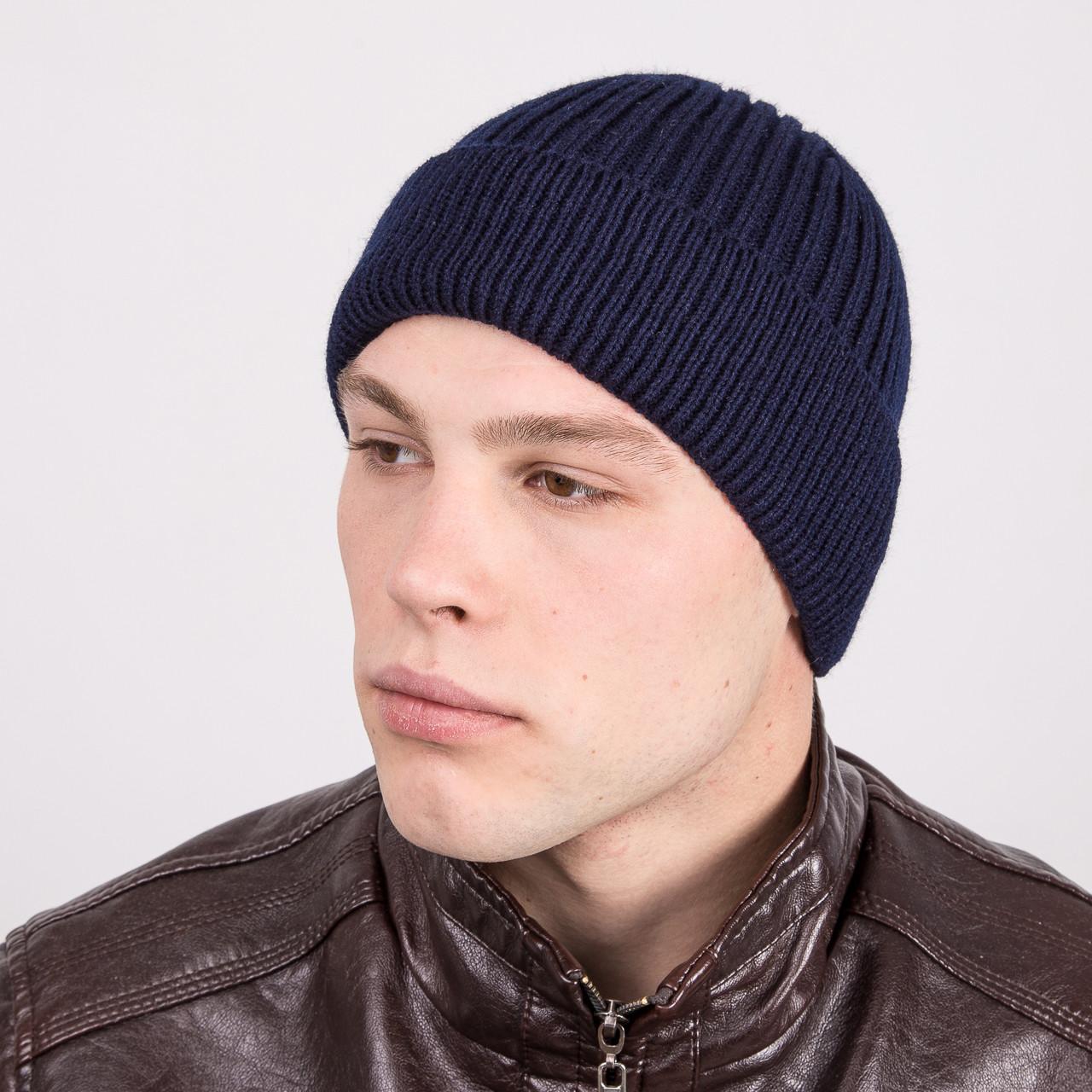Вязаная зимняя мужская шапка 2016 - Артикул m1d