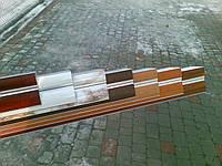 Карниз алюминиевый двойной с комплектующими декорированный