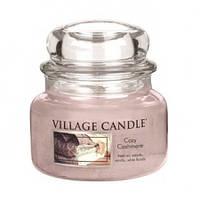 """Ароматическая свеча в стекле Village Candle """"Нежный кашемир"""". 315 гр/ 55 часов"""