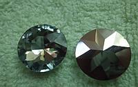 Кабошон хрусталь , Круглый граненый ,  27 мм, Алмаз
