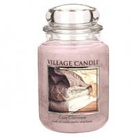 """Ароматическая свеча в стекле Village Candle """"Нежный кашемир"""". 740 гр/ 170 часов"""