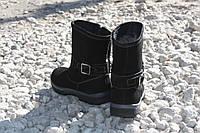 Зимние замшевые сапоги для подростка