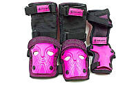 Защита спорт. наколен., налокот., перчатки детс.ZEL SK-3503P-M (р.M-8-12лет, розовая)