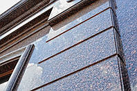 Облицовка фасада натуральным камнем - гранитом, мрамором, травертином