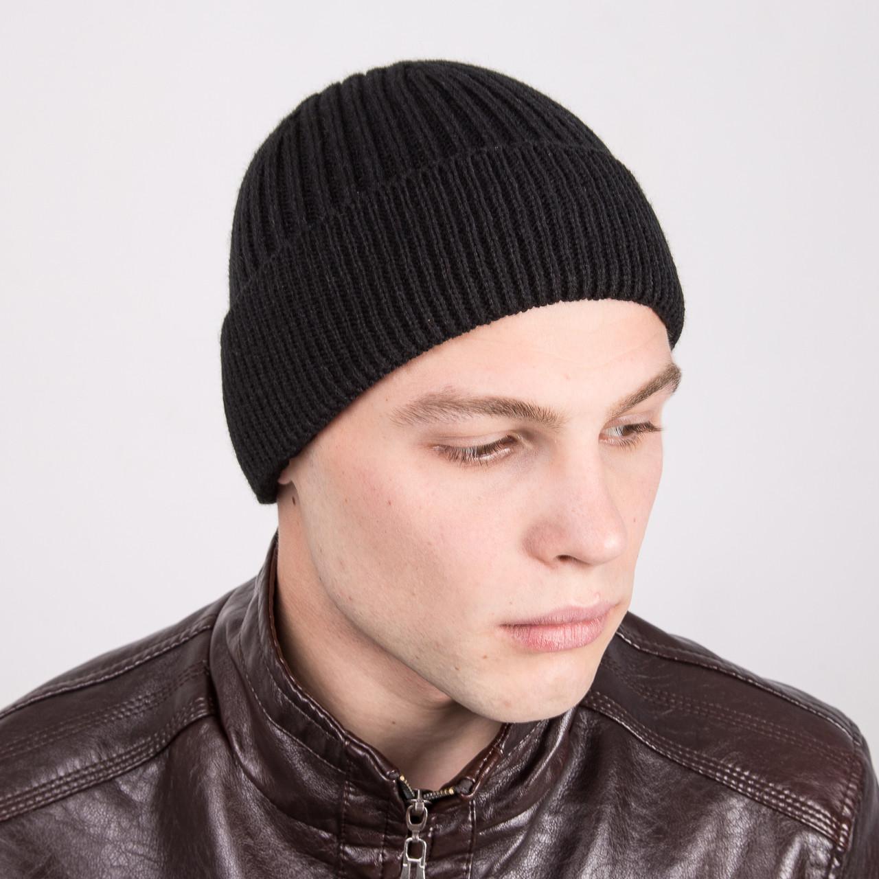 Вязаная зимняя мужская шапка 2016 - Артикул m1b