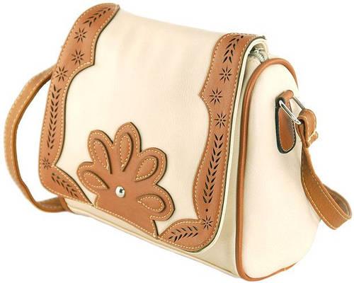 Чудесная компактная сумка через плече из искусственной кожи Traum 7215-31, бежевый