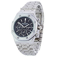 Часы Audemars Piguet Royal Oak Steel (Кварц) silver/black/silver, фото 1