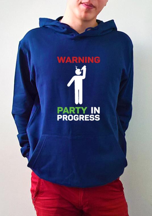 "Мужская толстовка ""Party in progress"""
