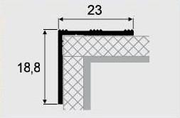 Пороги алюминиевые 3А 1,8 метра золото 23х18мм , фото 2