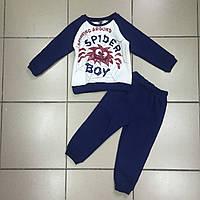 Детский Костюм спортивный с начёсом для мальчиков оптом р.3-4-5 лет