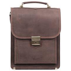 Шкіряний портфель-планшет СПБ-2 коричневий крейзі